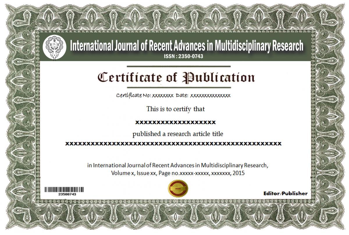 Author Information International Journal Of Recent Advances In